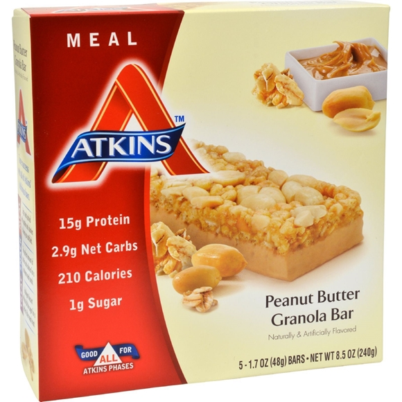 Picture of Atkins Advantage Bar Peanut Butter Granola - 5 Bars