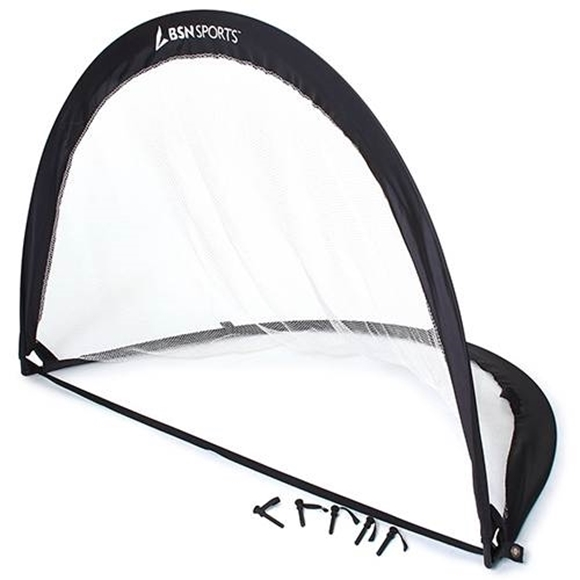 """Picture of Pop Up Soccer Goal - Black (72""""W x 48""""H x 48""""D)"""